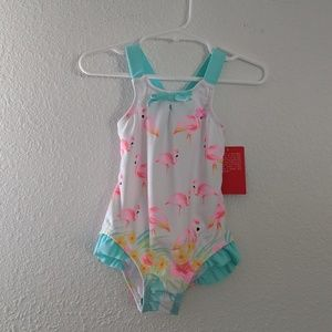 NWT Flamingo Swimsuit - 3T